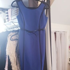 Stunning Blue Dress with Black Detail
